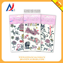 glitter body tattoo stickers and flash temporary glitter tattoo stencils