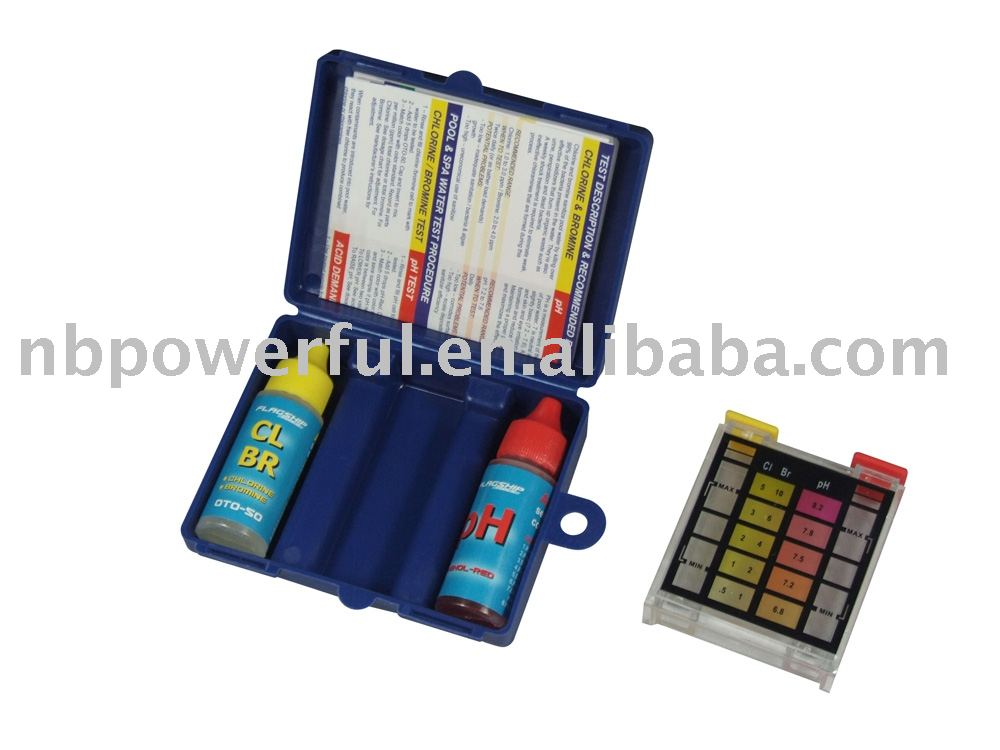PH CL & Bromine 3-way swimming Pool & Spa water Test Kit,good quality