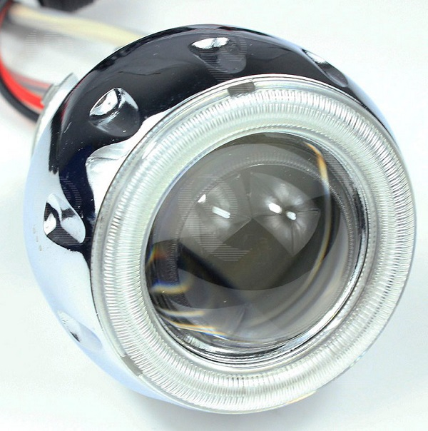 Car Motorcycle hid bi xenon projector lens headlight with angel eyes
