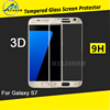2016 New Arrival For Samsung Galaxy s7 tempered glass screen protector / Full Cover 3D curved s7 tempered glass