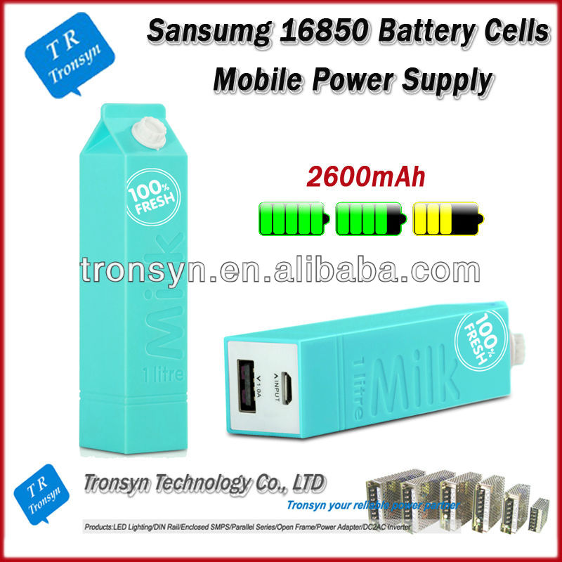 2014 New Arrival Samsung 16850 Battery Cells Portable Powr Bank 2600mAh Mobile Power Supply