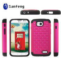 New arrival cellphone case For LG Optimus L90 Diamond Studded Silicone Rubber Skin Hard Case