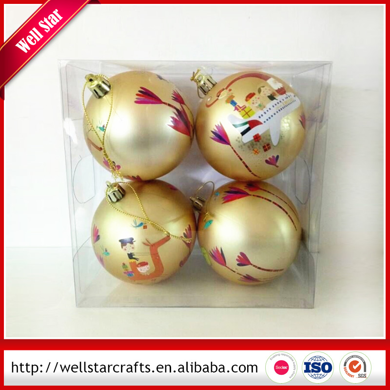 Promotional christmas decoration ball/plastic christmas ball With new design