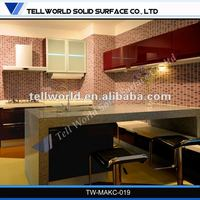 Solid surface counter top for acrylic benchtop
