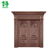 Wholesale new design oversize real entrance copper entry doors for sale