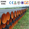 Black hdpe corrugated dwc pipe of iso standard