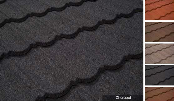 RAL7023 stone coated steel roof tile