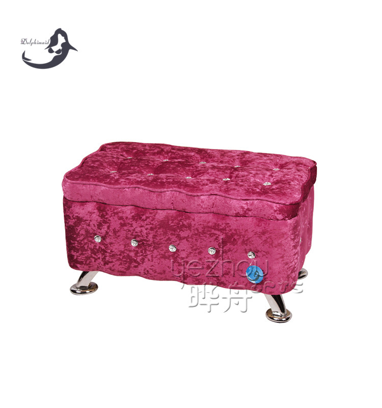 wholesale custom storage pouf ottoman in pink color