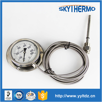 manufacturer full SS 304 industrial use boiler hydraulic oil temperature gauge