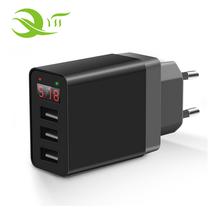 UK UK EU Plug Mini Universal USB 2.4A Travel Wall Charger Adapter 3 Port Smartphone Charger