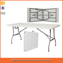 5ft plastic folding portable table with carry handles