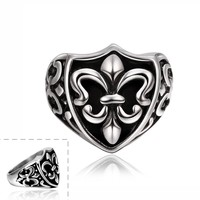 Western Easter Day Stainless Steel Symbol Men's Ring
