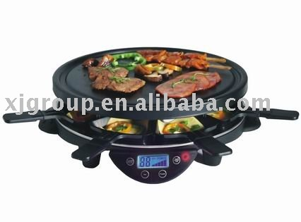 BBQ Grill With Aluminum/iron/stone Grill Plate Optional (XJ-8K113)