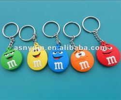 Soft Soft PVC keyring promotional key chains