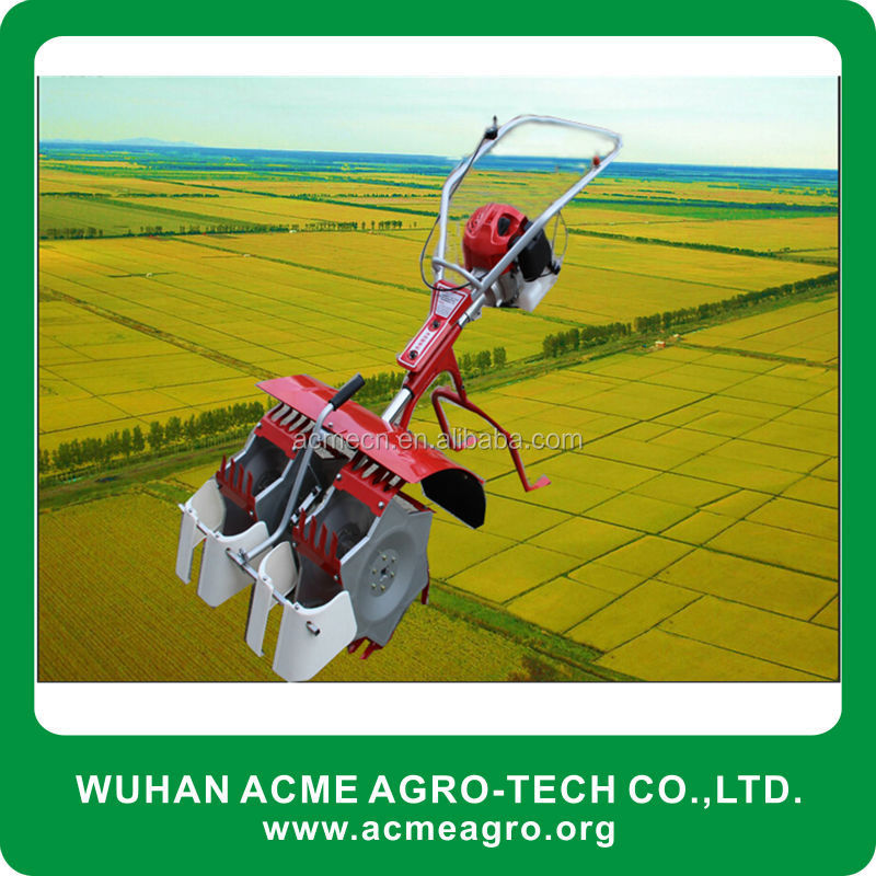 High efficiency 2row paddy weeder with japan engine