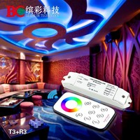 T3 remote + R3 receiver Mini led rgb controller with touch remote control