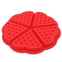 Silicone Mini Waffles Mold Pan Cake Baking Baked Muffin Cake Chocolate Mold Tray DIY