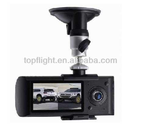 Dual Cameras Car DVR G-Sensor Car Black Box car kit X3000 With GPS
