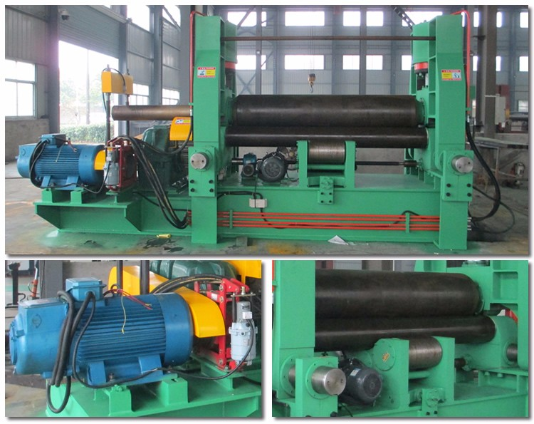 W11-8*2500 3 Roller hydraulic Aluminum Composite Panel Roller Bending Machine used for sheet metal