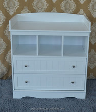 Home Furniture Safe White Changing Table With Shelf Furnishing