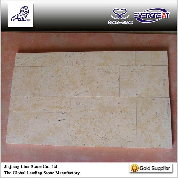 Promotional famous brand light beige limestone tile