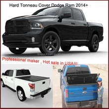 Custom truck parts truck cab covers pickup hard tonneau cover for RAM 1500 Express crewcab double cab 2014+
