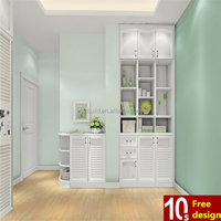 China classic bedroom wardrobe furniture PVC modern wardrobe