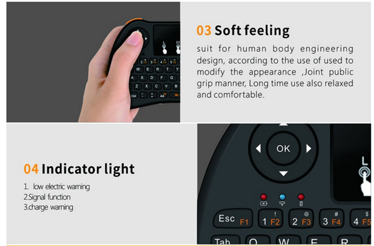 Low price of H9 air mouse for Android TV BT cheap wireless waterproof keyboard with low Wireless remote control