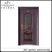 2017 Hot Sell Copper entrance safety house door fancy design for apartment and villa