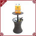 Professional factory wholesale plastic rattan ice bucket for outdoor