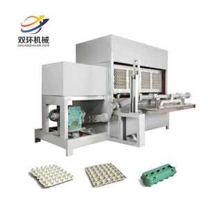 Easy operation egg tray making machine