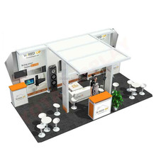 custom 10x20 hybrid trade show exhibition booth