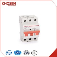 New type MCB C65N ,hot sale electrical miniature circuit breaker,3 pole 16amp 380v 6ka