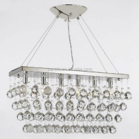 Zhongshan customized chrome finished cystal orbs and rain drops light chandelier for dinning room