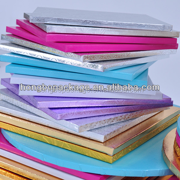 1/2inch thick greaseproof corrugated paper wholesale cake boards