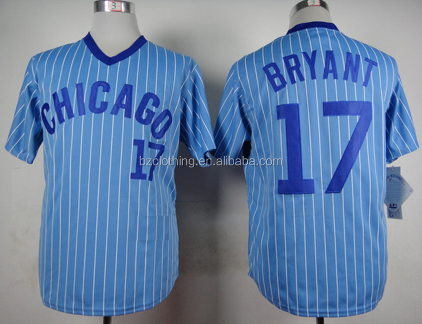 Men's Chicago Cubs Kris Bryant #17 Cooperstown Collection 1978 Jersey