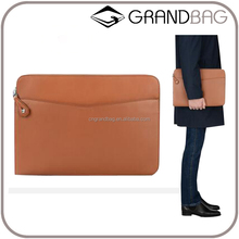 New fashion men genuine leather & PU leather document case,leather laptop briefcase, wholesale clutch bag for business men