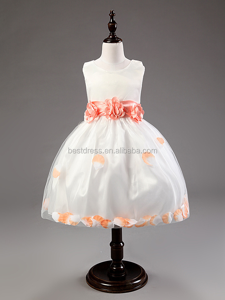 Walson flower girl dresses the most beautiful flower girl dresses shoulder flowers crocheted skirt