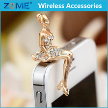 China Wholesale Bling Cute Girl Style 3.5mm Anti Dust Earphone Jack Plug For iPhone