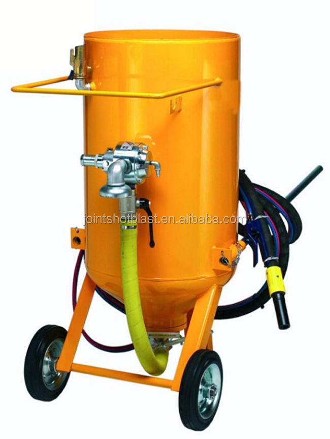 sand blast pressure pot for small steel parts for cleaning