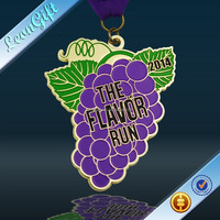 The flavor run medal,best quality enamel medals