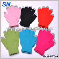 Wholesale custom smart screen touch gloves, winter gloves, iglove