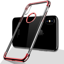 tpu electroplating case for iphone x clear back covers soft bumper silicone case for iphone x phone unlocked
