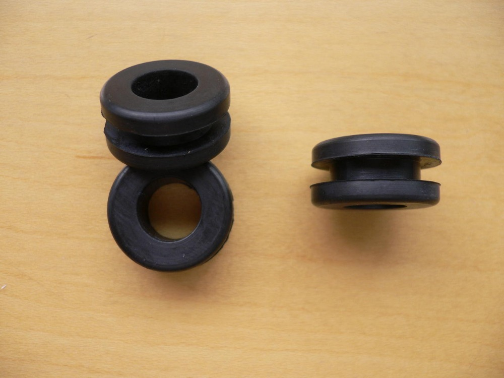 Custom made black NBR/CR/NR/EPDM/Silicone/Viton/FKM rubber cable grommet for wire seal