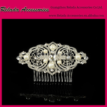 Wedding Bridal Hair Accessories Vintage Inspired pearl Hair Comb with crystal