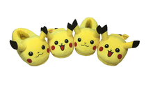 26 cm Pikachu plush indoor slippers men winter home shoes women Pokemon house shoes unisex warm soft slipper