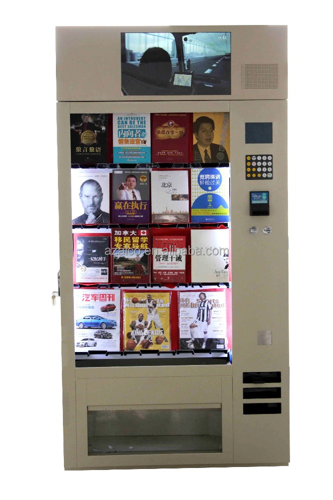 Hotel use automatic big storage vending machine for sale magazine/book/dvd