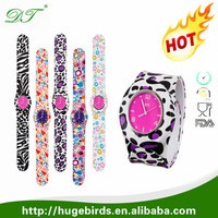 silicone rubber wristband slap watch