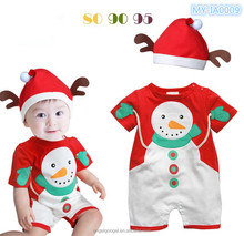 new born infant toddler baby chrstmas snowman printed One-piece garment design MY-IA0009