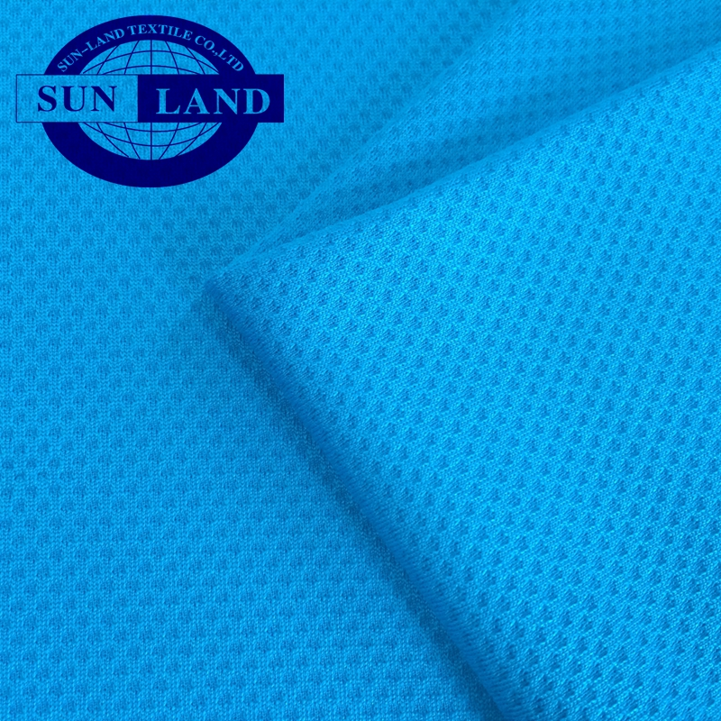 micax knit polyester cool honeycomb mesh fabric for sportswear